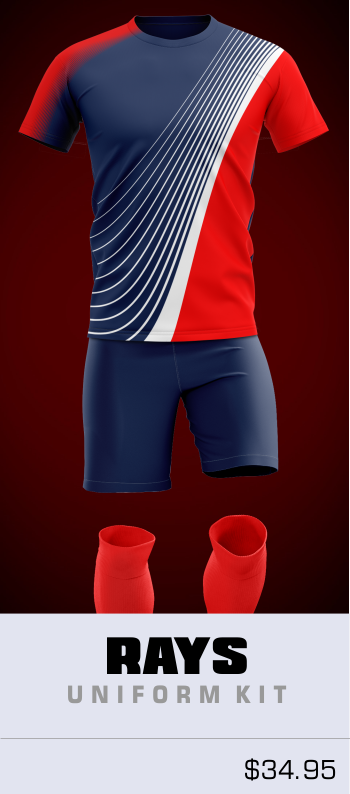 Rays Customizable Soccer Uniform