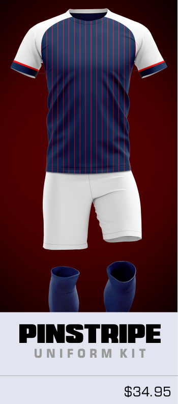 Pinstripe Customizable Soccer Uniform