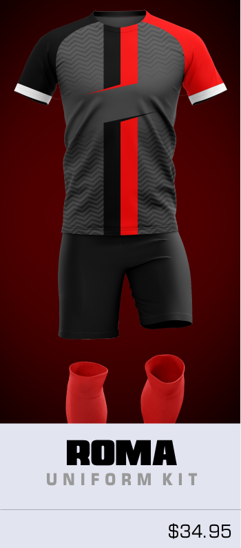 Roma Customizable Soccer Uniform